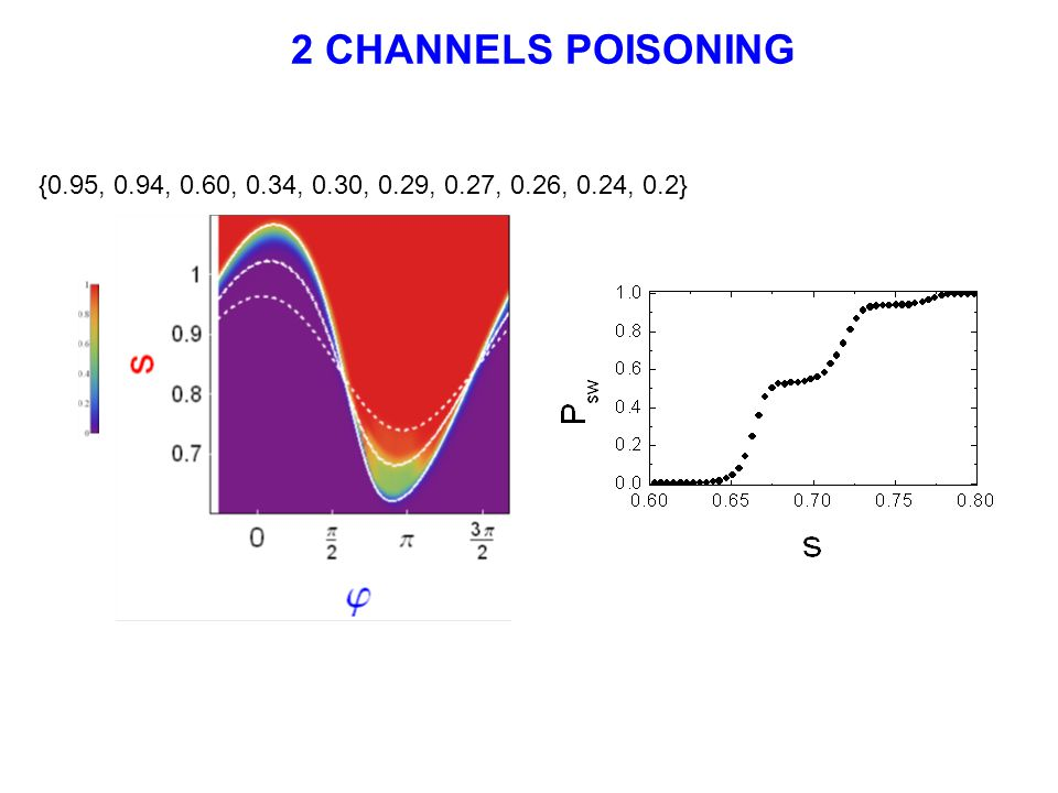 {0.95, 0.94, 0.60, 0.34, 0.30, 0.29, 0.27, 0.26, 0.24, 0.2} 2 CHANNELS POISONING