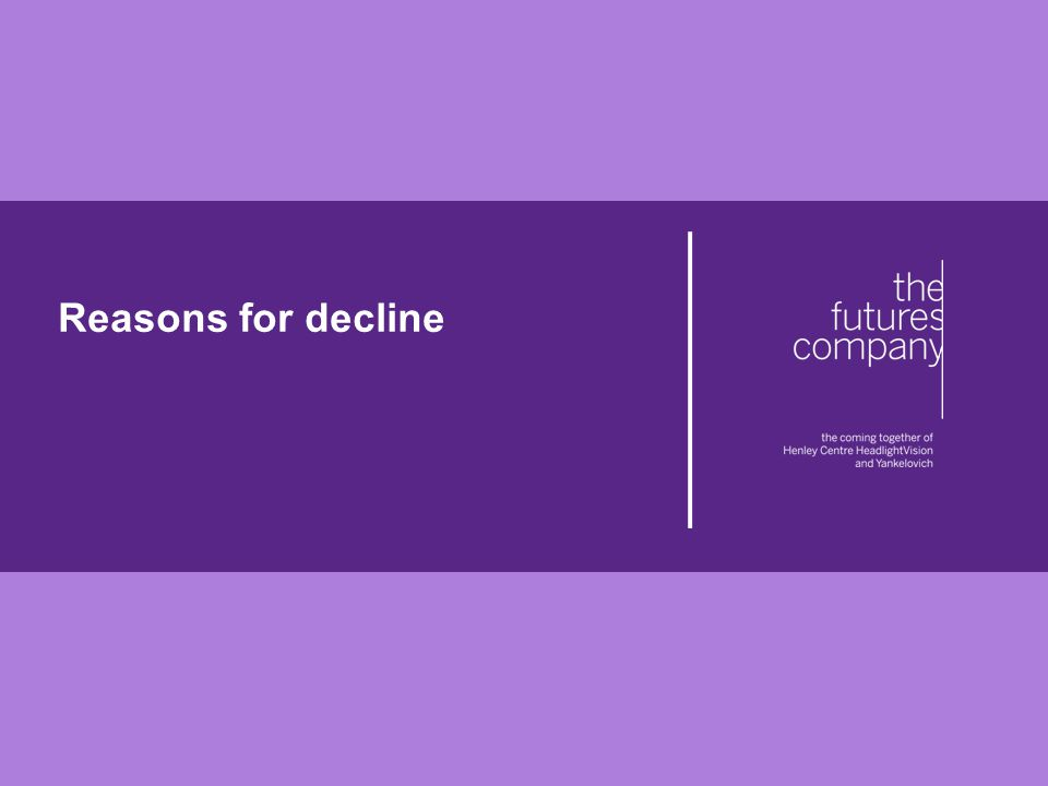 © The Futures Company 2011 ׀ 13 Reasons for decline