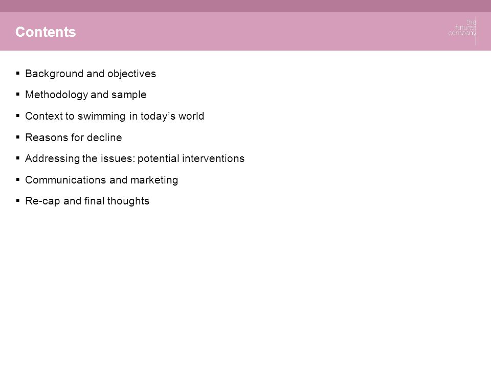 © The Futures Company 2011 ׀ 2 Background & Objectives