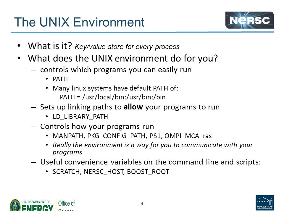 The UNIX Environment What is it.