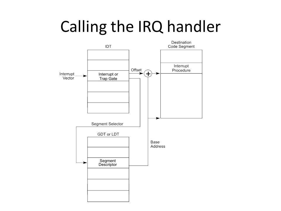 Calling the IRQ handler