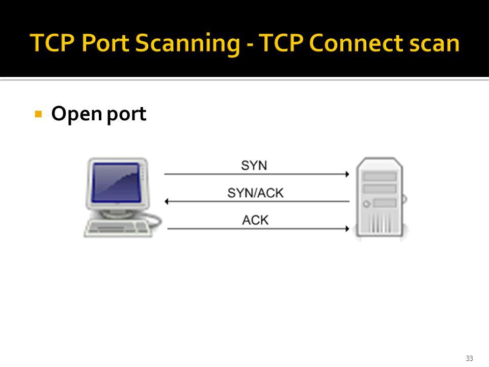  Open port 33