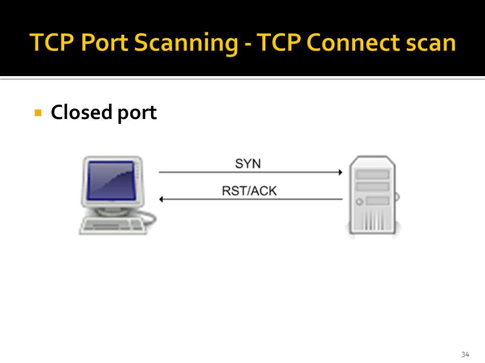  Closed port 34