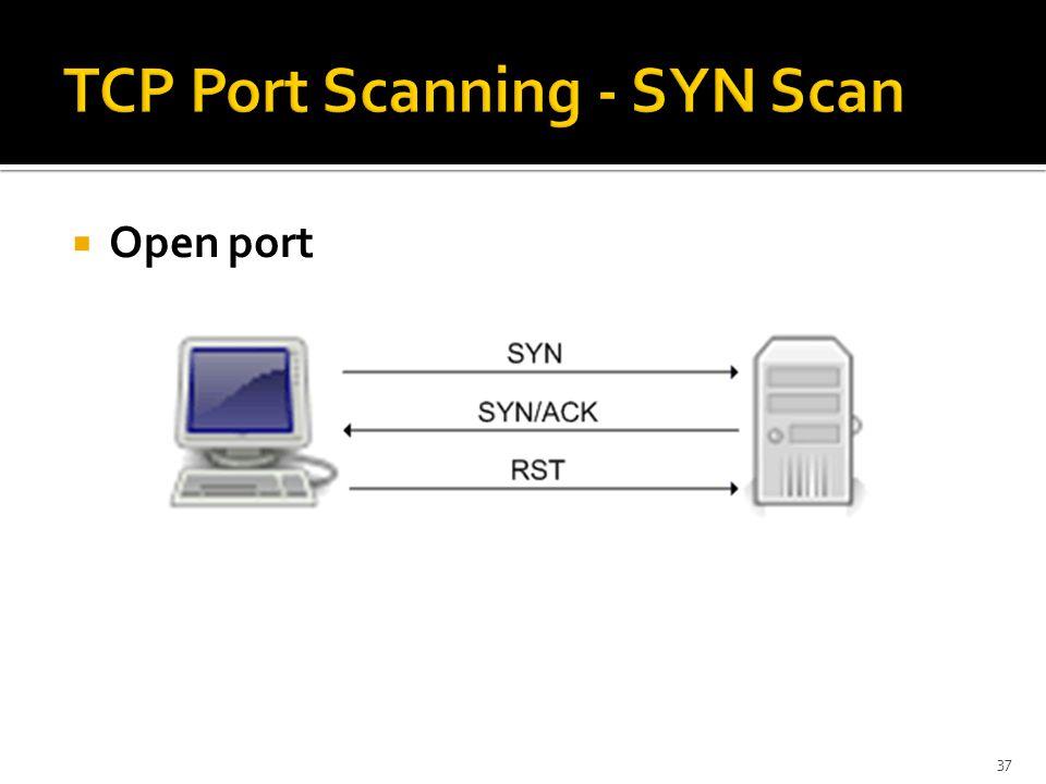  Open port 37