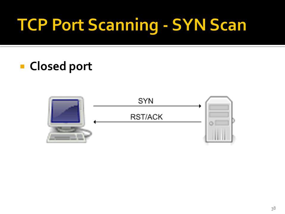  Closed port 38