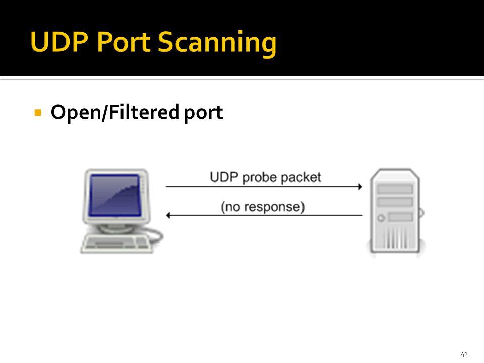  Open/Filtered port 41