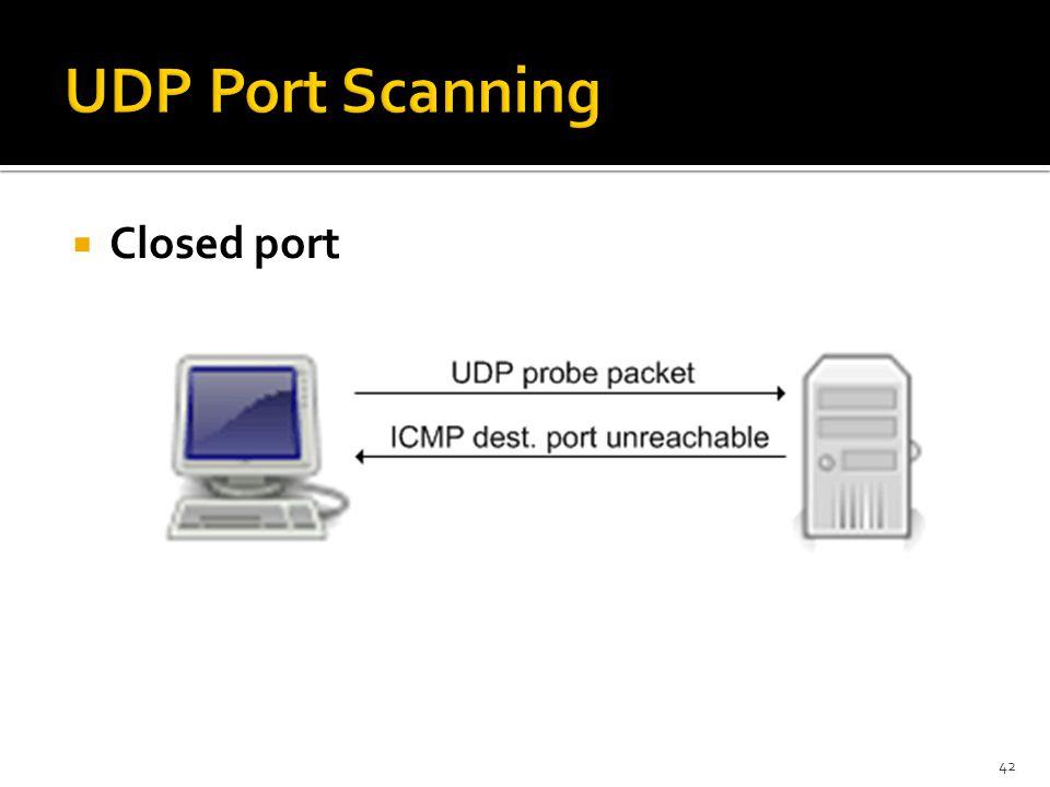  Closed port 42