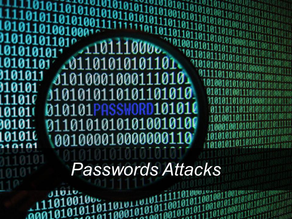  ATAQUES A CONTRASEÑAS Passwords Attacks 50