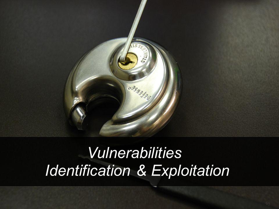 Vulnerabilities Identification & Exploitation 63