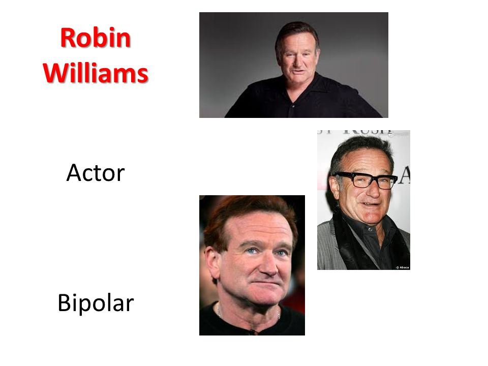 Robin Williams Actor Bipolar