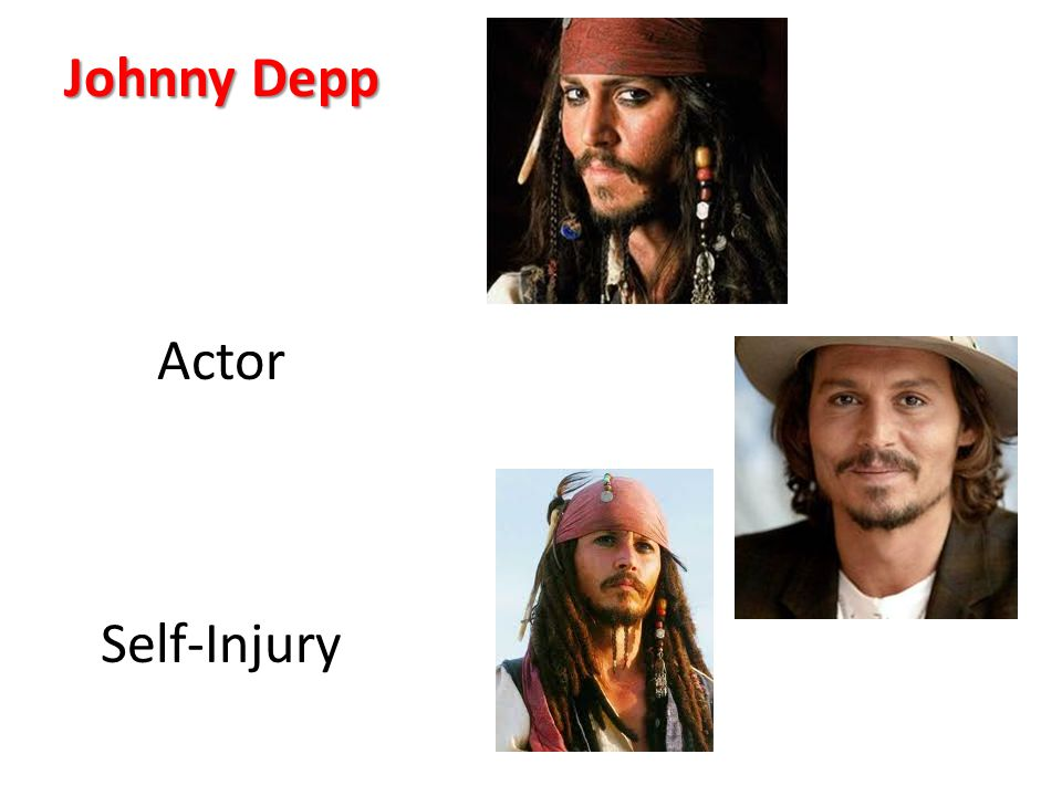 Johnny Depp Actor Self-Injury
