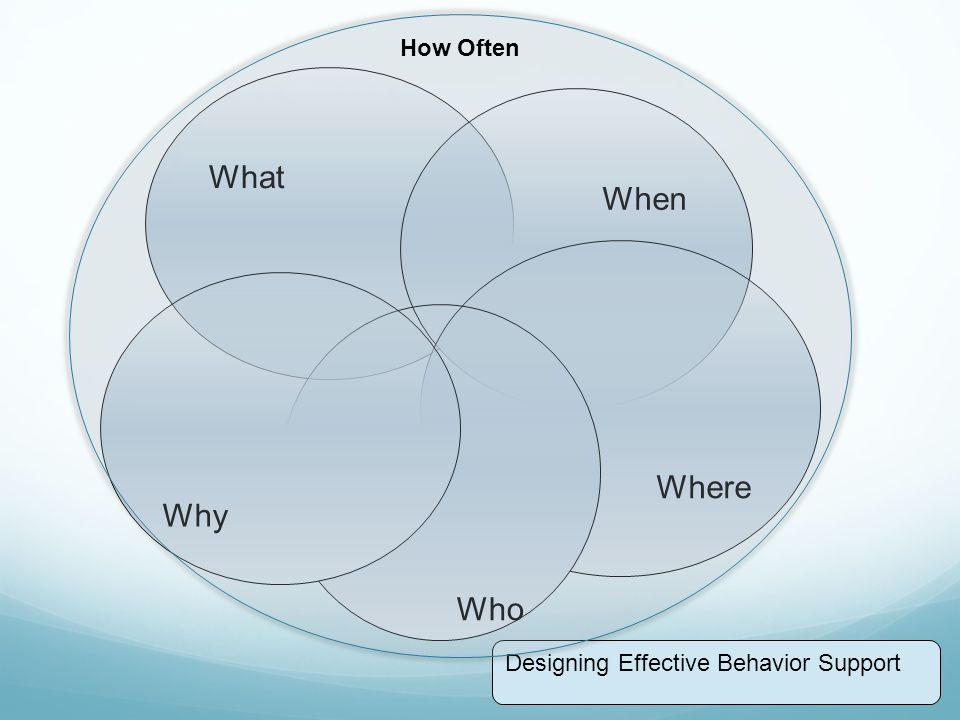 What When Where Who Why Designing Effective Behavior Support How Often