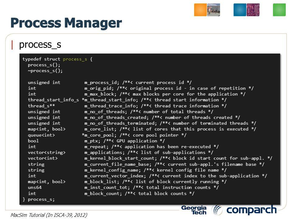  process_s typedef struct process_s { process_s(); ~process_s(); unsigned int m_process_id; /**< current process id */ int m_orig_pid; /**< original p