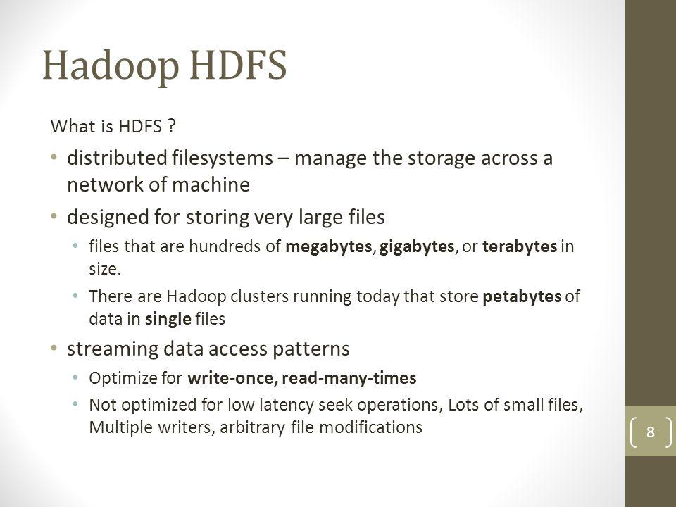 HDFS concepts Anatomy of a file write Create a file Write data Close file 19