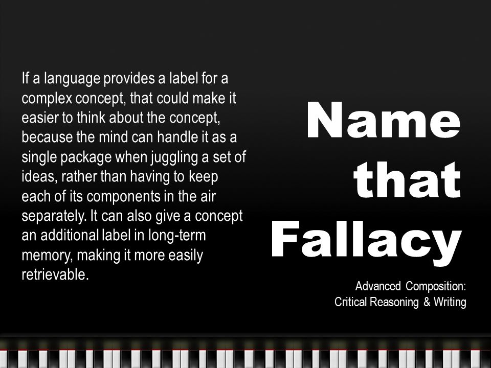 FALLACIES OF AMBIGUITY 1.Fallacy of Composition 2.Fallacy of Division 3.Equivocation 4.Non Sequitur does not follow FALLACIES OF PRESUMPTION 5.