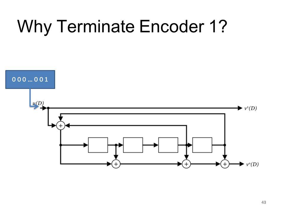 Why Terminate Encoder 1? 0 0 0 … 0 0 1 43