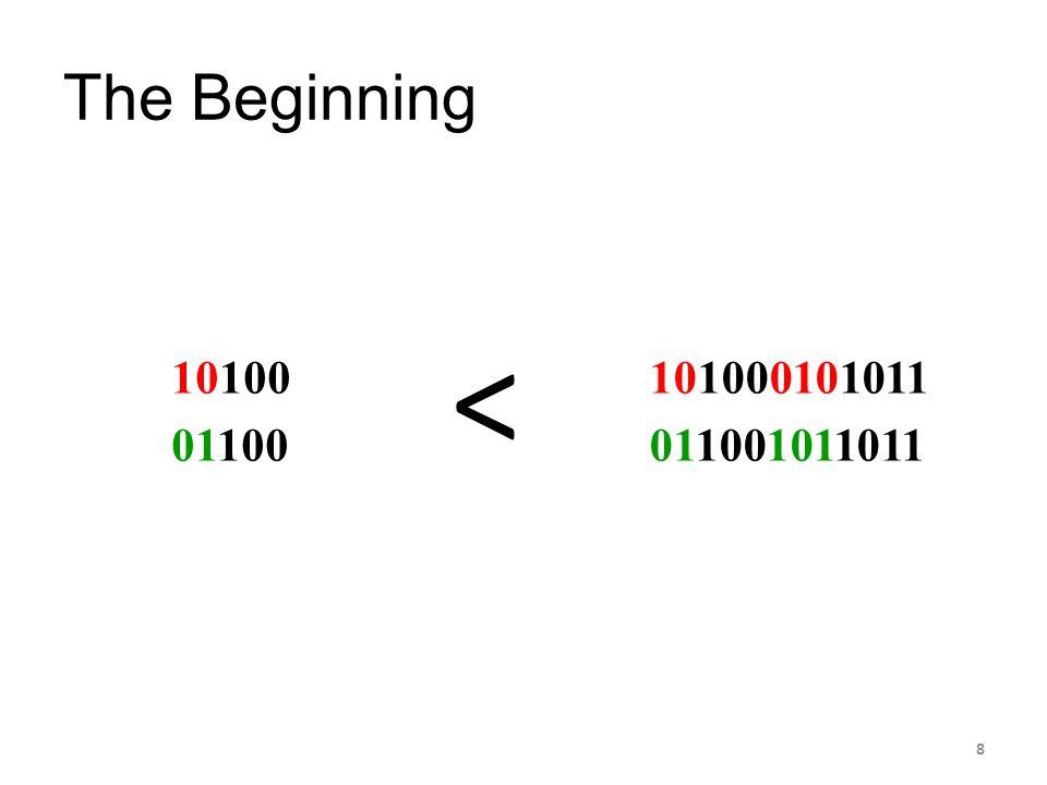 The Beginning 10100 01100 101000101011 011001011011 < 8