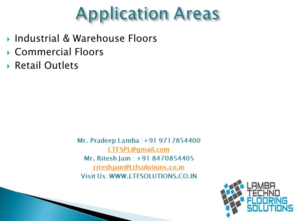  Industrial & Warehouse Floors  Commercial Floors  Retail Outlets Mr.