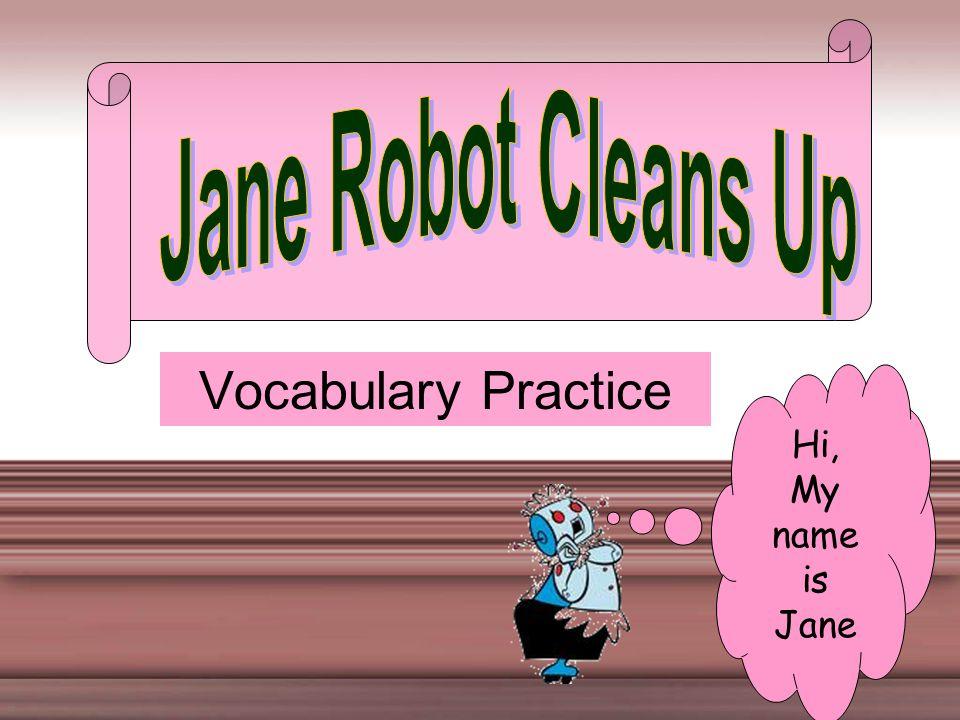 Vocabulary Practice Hi, My name is Jane