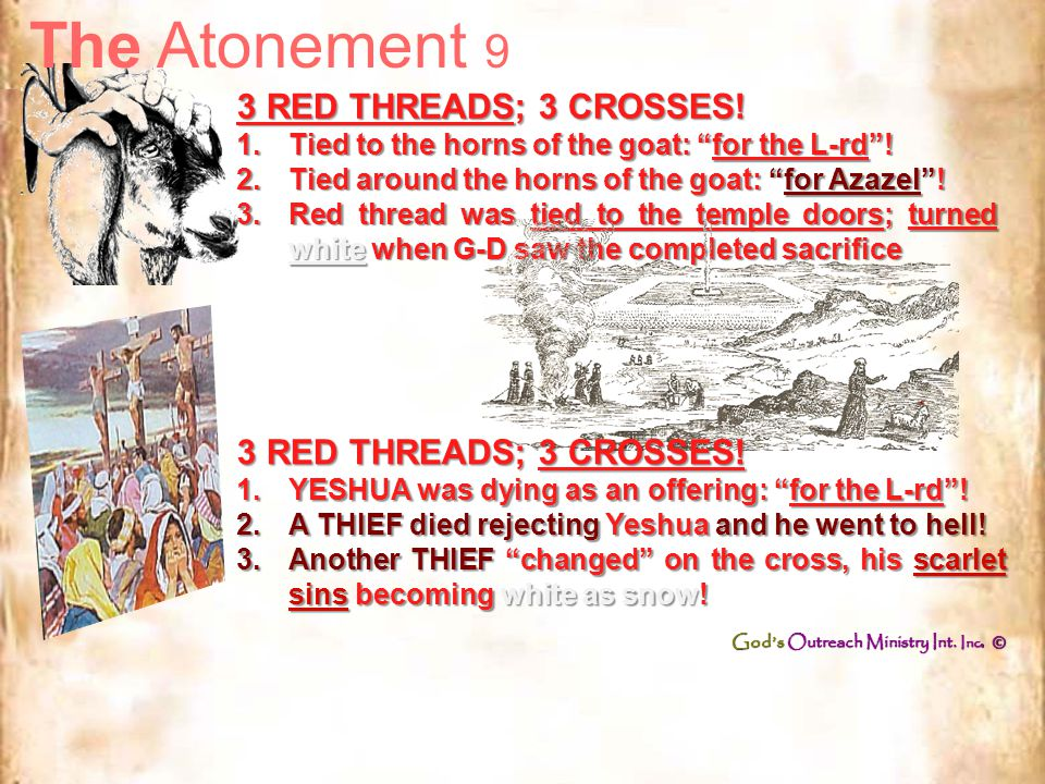 The Atonement 8 7 times the Blood was sprinkled on the Ark 7 times the Blood was sprinkled on the Ark 7 times the Blood was shed from 7 different part of Yeshua's body 7 times the Blood was shed from 7 different part of Yeshua's body 1.From His FACE, where His sweat became Blood.