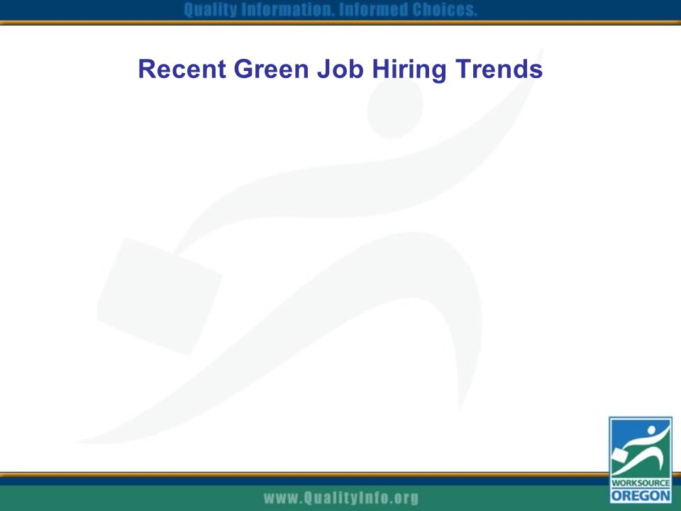 Recent Green Job Hiring Trends