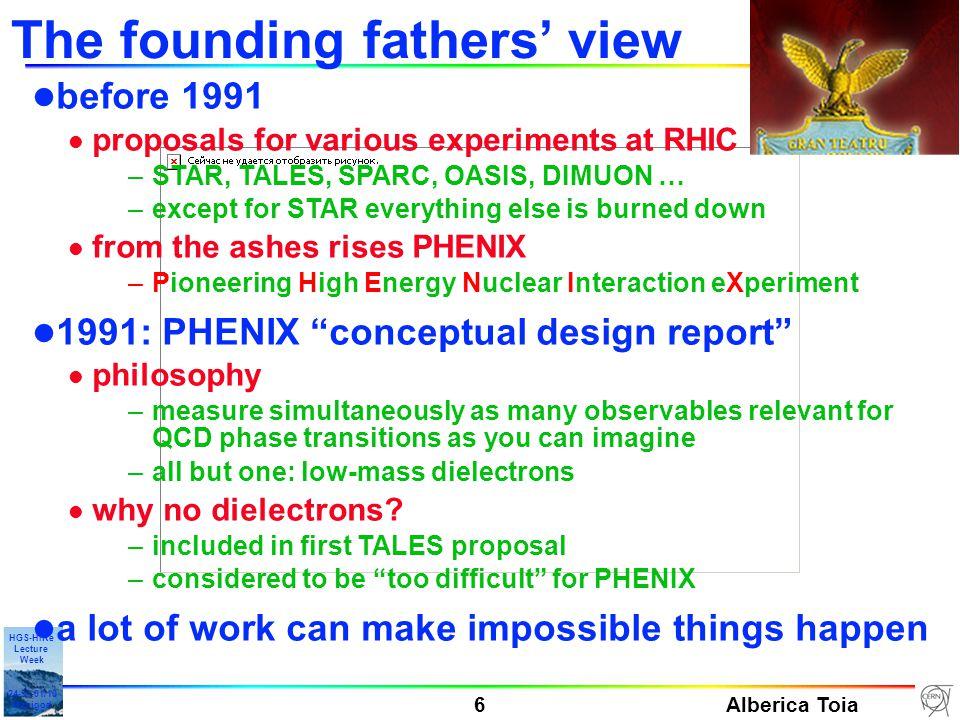 Alberica Toia 7 HGS-HIRe Lecture Week 24-31-01/10 Manigod PHENIX in practice