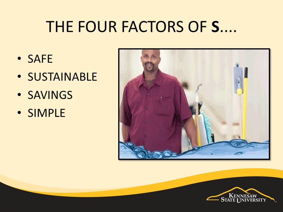 THE FOUR FACTORS OF S.... SAFE SUSTAINABLE SAVINGS SIMPLE