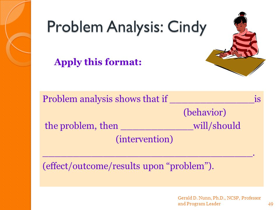 Problem Analysis: Cindy Gerald D.