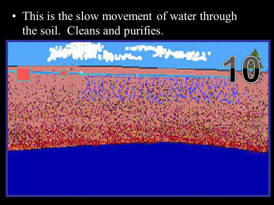 This is the slow movement of water through the soil.