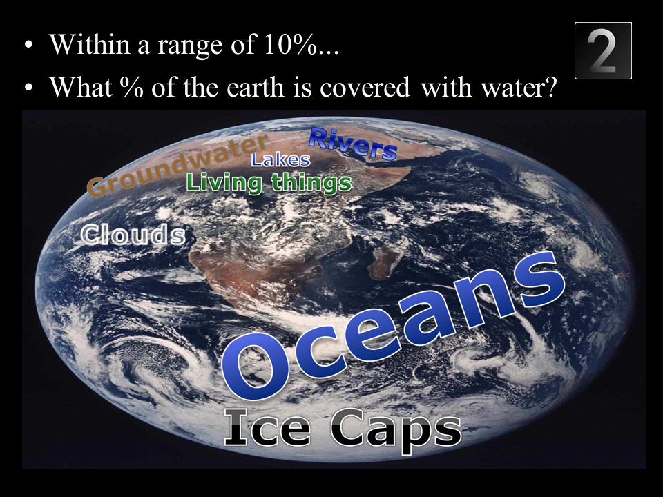 Within a range of 10%... What % of the earth is covered with water Copyright © 2010 Ryan P. Murphy
