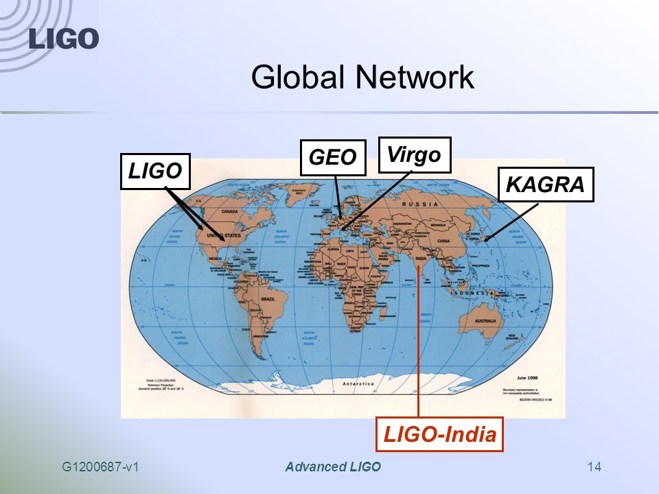 G1200687-v1Advanced LIGO14 Global Network LIGO GEO Virgo LIGO-India KAGRA