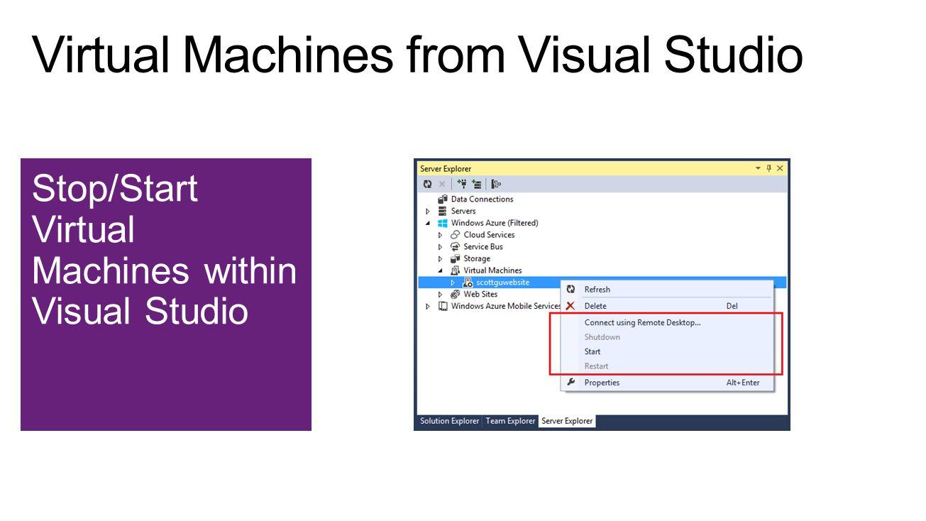 Stop/Start Virtual Machines within Visual Studio
