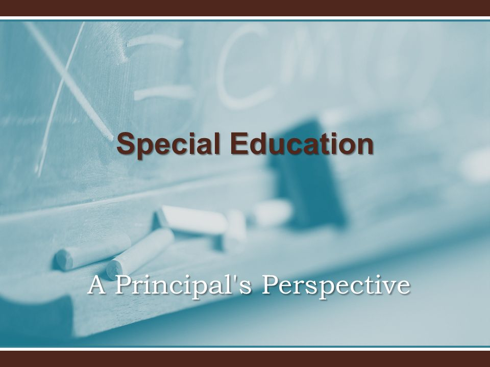 A Principal's Perspective Special Education