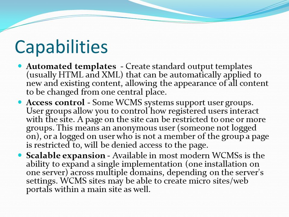 What are some real world examples of what Joomla.can do.