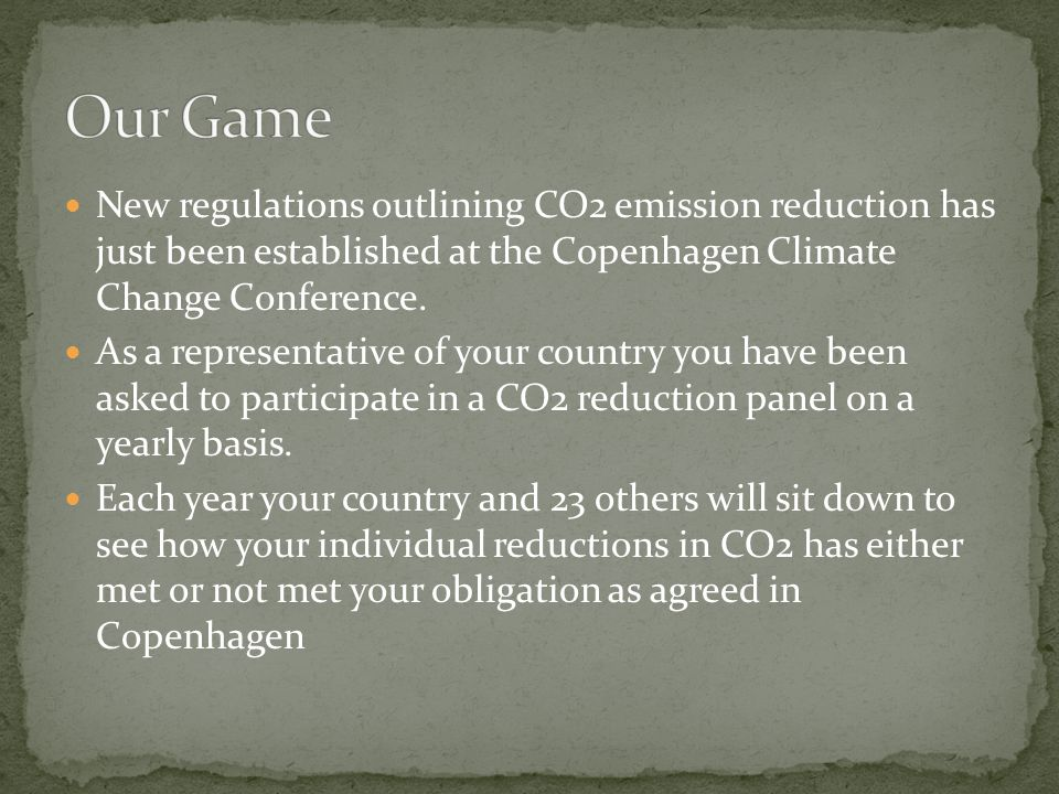 New regulations outlining CO2 emission reduction has just been established at the Copenhagen Climate Change Conference.