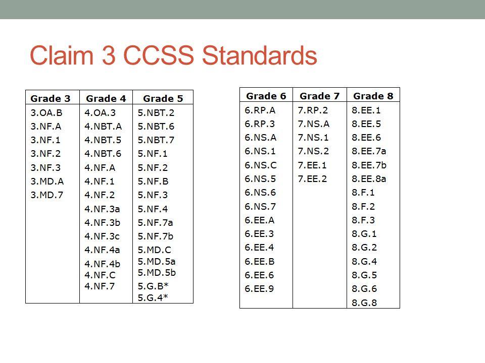 Claim 3 CCSS Standards