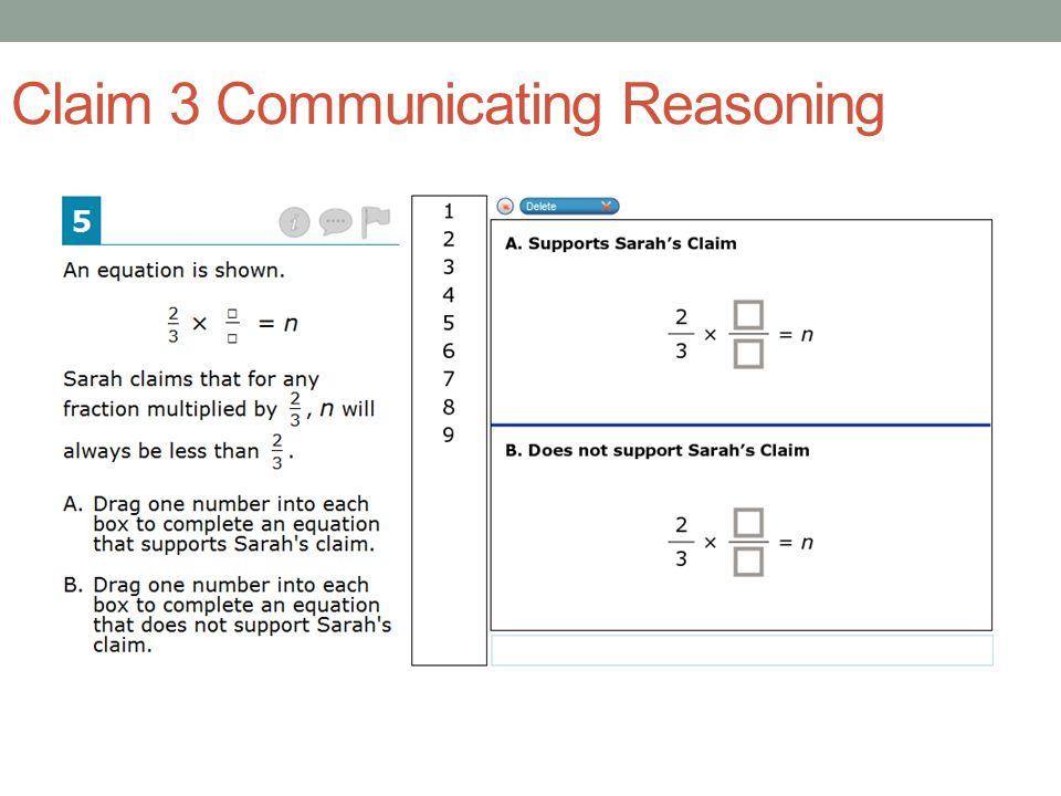 Claim 3 Communicating Reasoning Grade 6