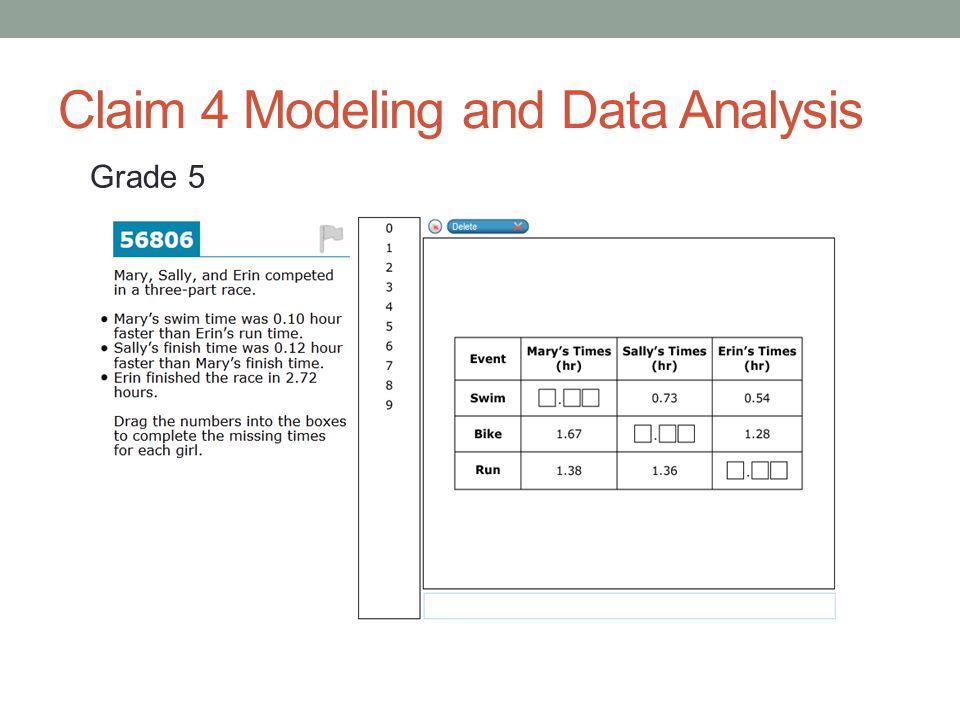 Claim 4 Modeling and Data Analysis Grade 5