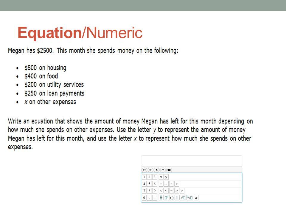 Equation/Numeric
