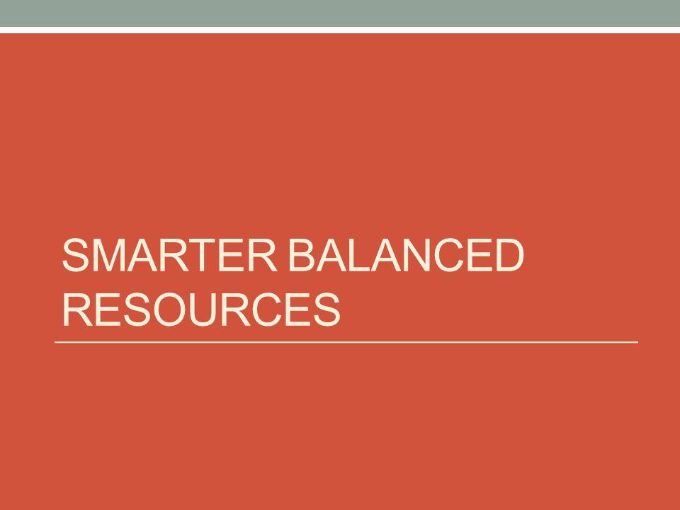 SMARTER BALANCED RESOURCES