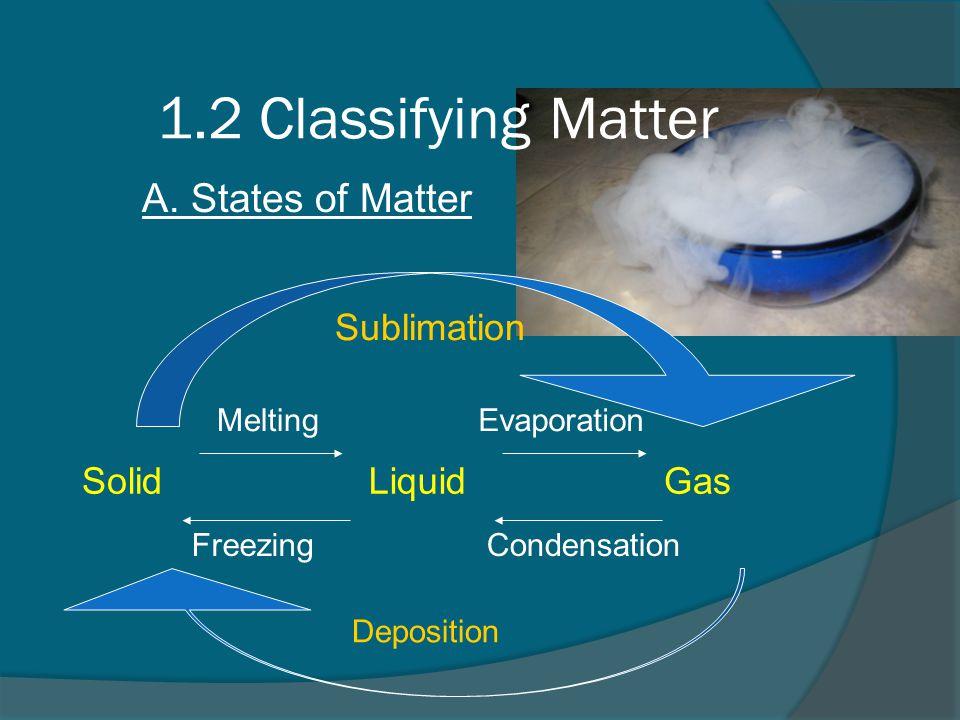 1.2 Classifying Matter A.