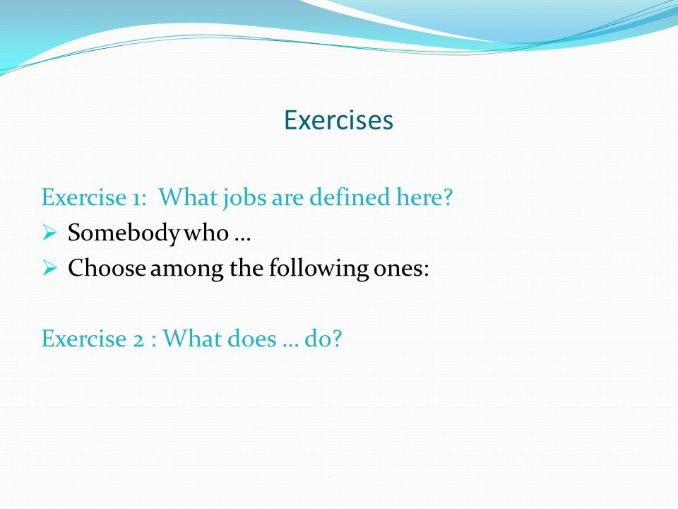 Exercises Exercise 1: What jobs are defined here.