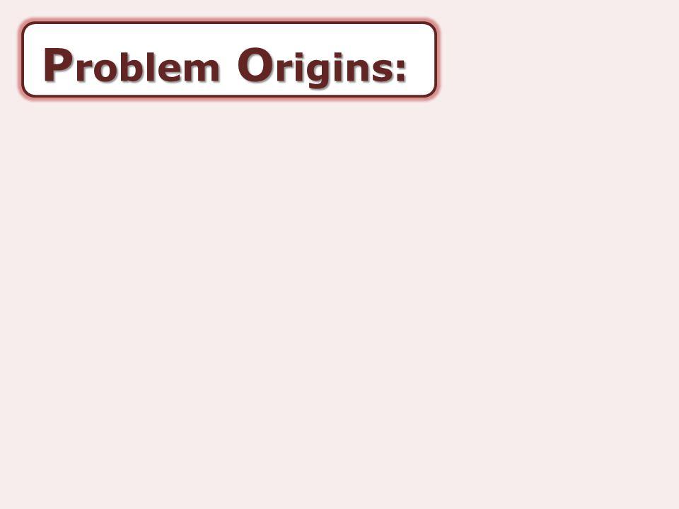 P roblem O rigins: