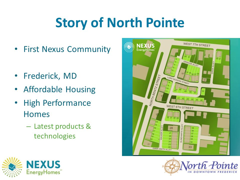 Story of North Pointe First Nexus Community Frederick, MD Affordable Housing High Performance Homes – Latest products & technologies