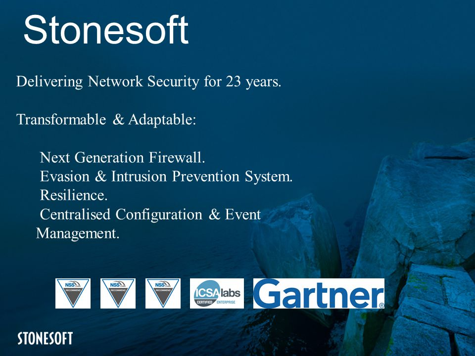 Stonesoft Delivering Network Security for 23 years.