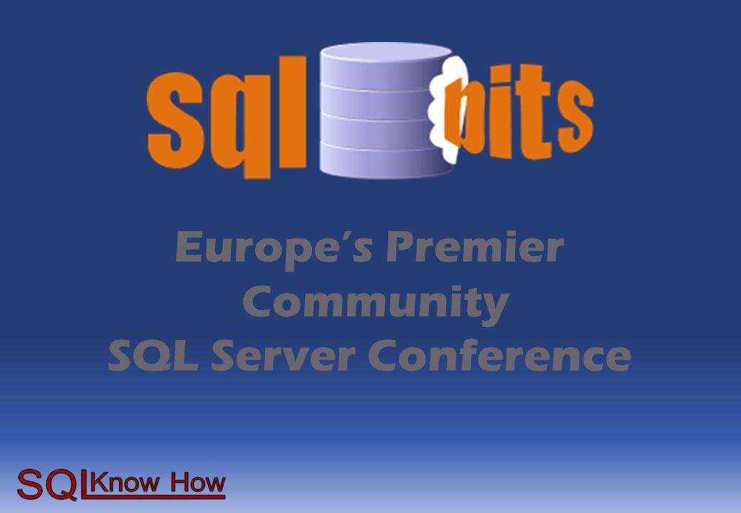Europe's Premier Community SQL Server Conference