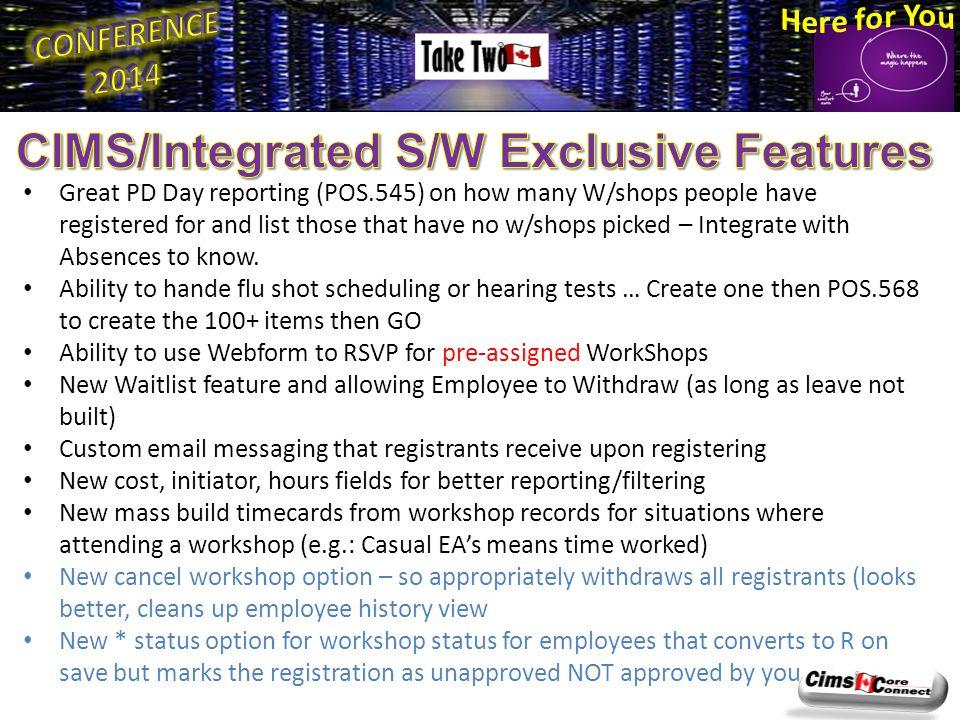  POS.564 H/R Workshop Attendees vs.
