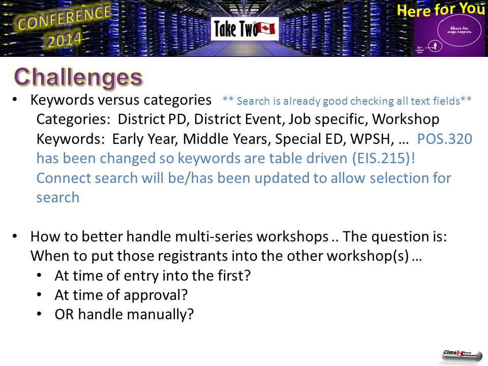 Workshop date changes … what steps to take.