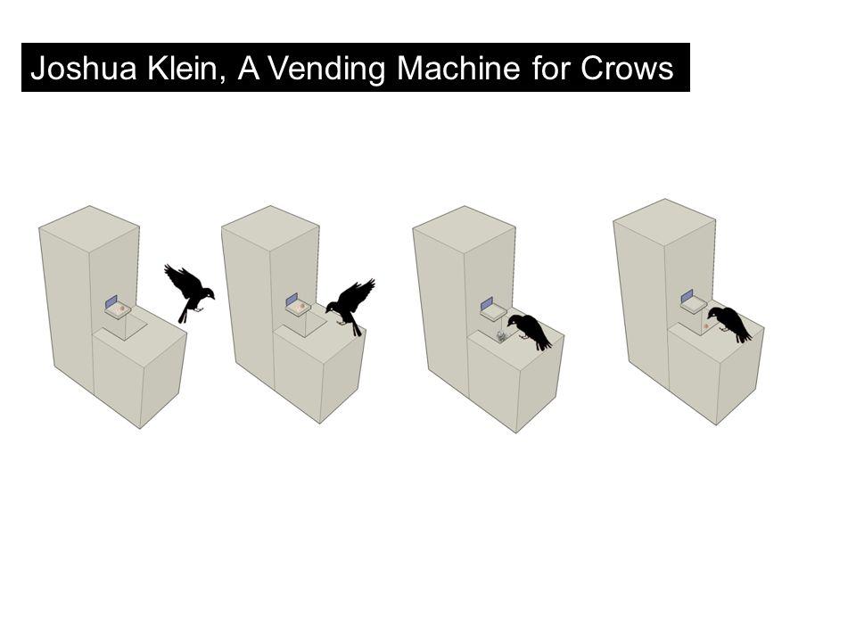 Joshua Klein, A Vending Machine for Crows