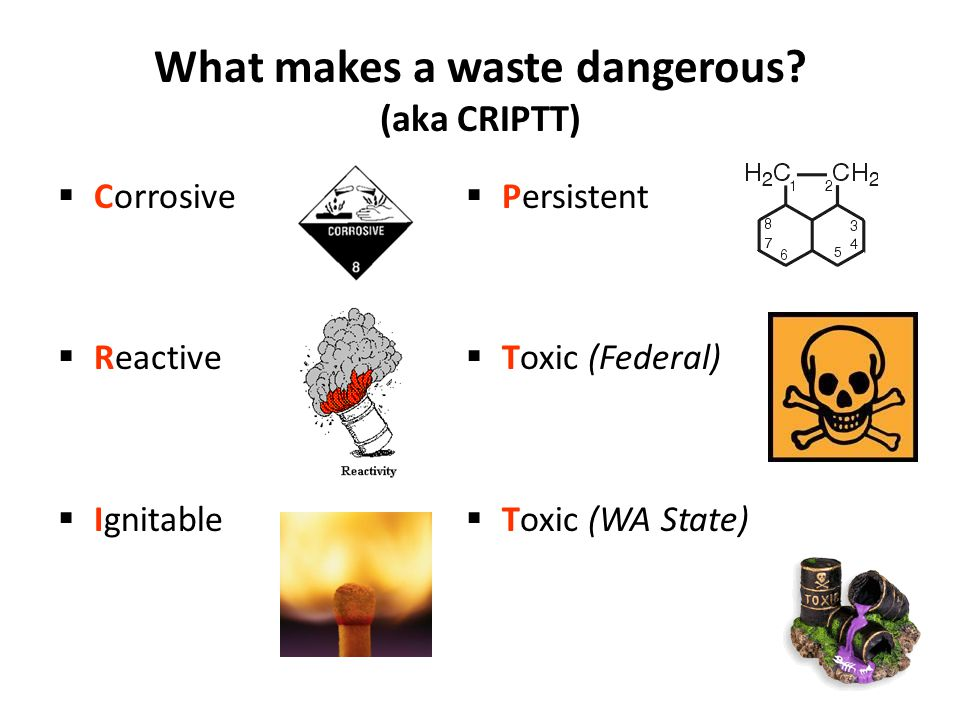 What makes a waste dangerous.